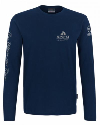 RPC Longsleeve T-Shirt in dunkelblau mit Silber Aufdruck